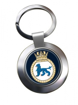 HMS Northumberland (Royal Navy) Chrome Key Ring