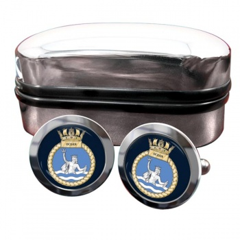 HMS Ocean (Royal Navy) Round Cufflinks