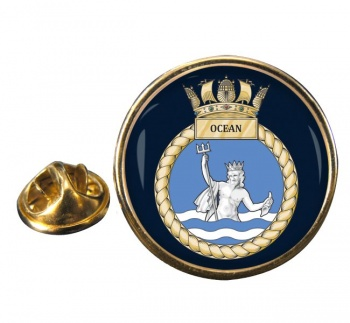 HMS Ocean (Royal Navy) Round Pin Badge