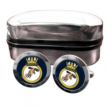 HMS Opossum (Royal Navy) Round Cufflinks