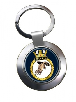 HMS Opossum (Royal Navy) Chrome Key Ring