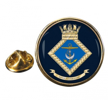 HMNB Portsmouth (Royal Navy) Round Pin Badge