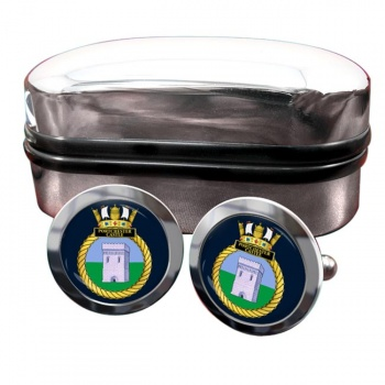 HMS Portchester Castle (Royal Navy) Round Cufflinks