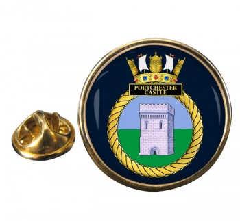 HMS Portchester Castle (Royal Navy) Round Pin Badge