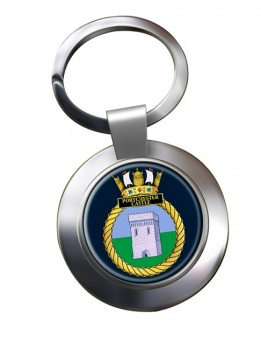 HMS Portchester Castle (Royal Navy) Chrome Key Ring