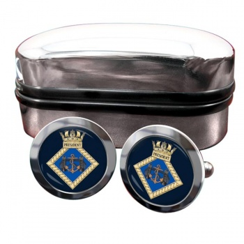 HMS President (Royal Navy) Round Cufflinks