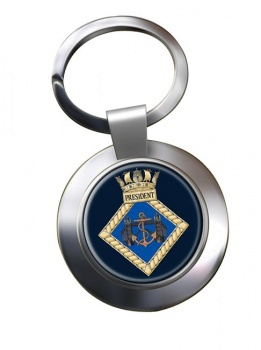 HMS President (Royal Navy) Chrome Key Ring
