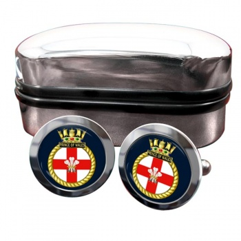 HMS Prince of Wales (Royal Navy) Round Cufflinks