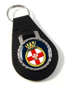 HMS Prince of Wales (Royal Navy) Leather Key Fob
