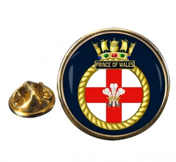 HMS Prince of Wales (Royal Navy) Round Pin Badge
