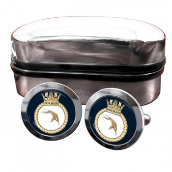 HMS Pursuer (Royal Navy) Round Cufflinks