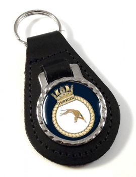 HMS Pursuer (Royal Navy) Leather Key Fob