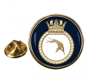 HMS Pursuer (Royal Navy) Round Pin Badge