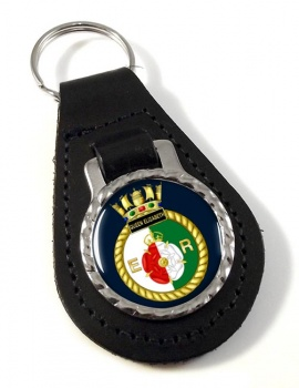 HMS Queen Elizabeth (Royal Navy) Leather Key Fob