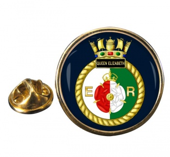 HMS Queen Elizabeth (Royal Navy) Round Pin Badge
