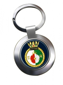 HMS Queen Elizabeth (Royal Navy) Chrome Key Ring
