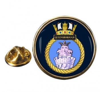 HMS Queenborough (Royal Navy) Round Pin Badge