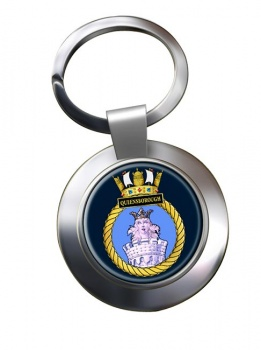 HMS Queenborough (Royal Navy) Chrome Key Ring