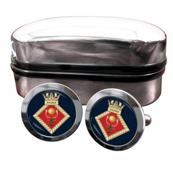 HMS Raleigh (Royal Navy) Round Cufflinks