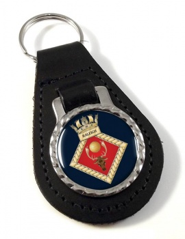 HMS Raleigh (Royal Navy) Leather Key Fob