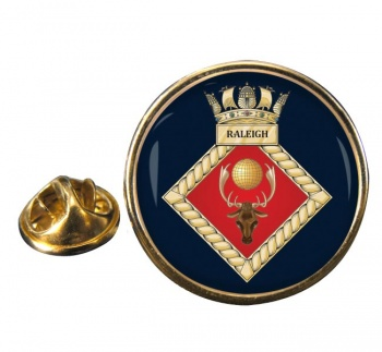 HMS Raleigh (Royal Navy) Round Pin Badge