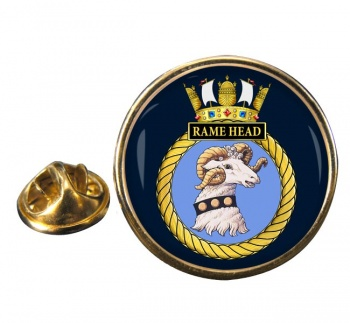 HMS Rame Head (Royal Navy) Round Pin Badge