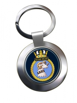 HMS Rame Head (Royal Navy) Chrome Key Ring