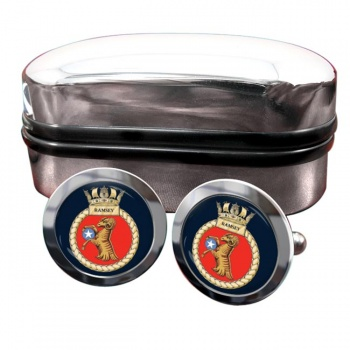 HMS Ramsey (Royal Navy) Round Cufflinks