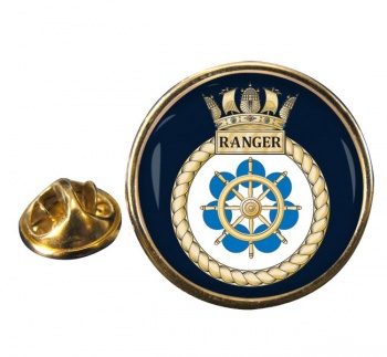 HMS Ranger (Royal Navy) Round Pin Badge