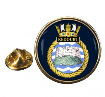 HMS Redoubt (Royal Navy) Round Pin Badge