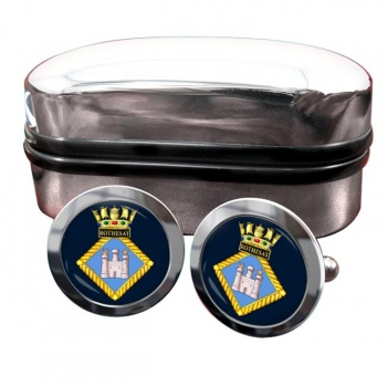 HMS Rothesay (Royal Navy) Round Cufflinks