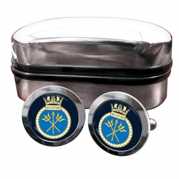 HMS Sceptre (Royal Navy) Round Cufflinks