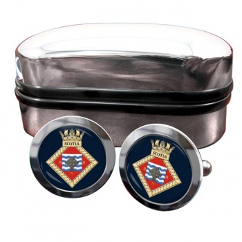 HMS Scotia (Royal Navy) Round Cufflinks