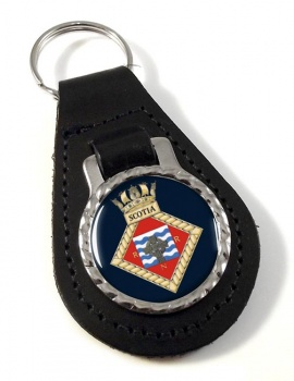 HMS Scotia (Royal Navy) Leather Key Fob