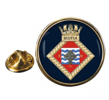 HMS Scotia (Royal Navy) Round Pin Badge