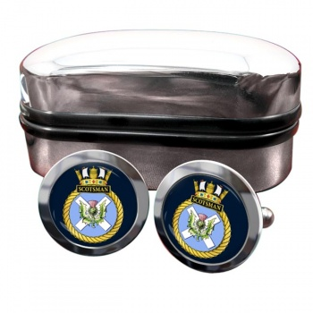 HMS Scotsman (Royal Navy) Round Cufflinks