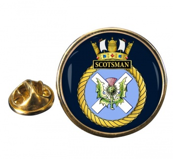 HMS Scotsman (Royal Navy) Round Pin Badge