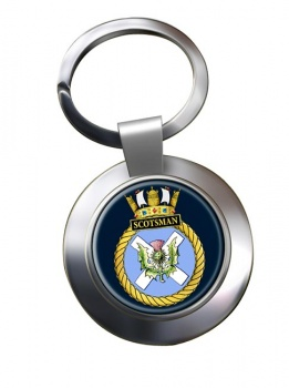 HMS Scotsman (Royal Navy) Chrome Key Ring