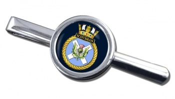 HMS Scotsman (Royal Navy) Round Tie Clip