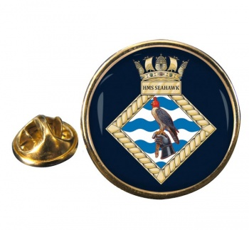 HMS Seahawk (Royal Navy) Round Pin Badge