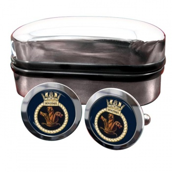 HMS Sentinel (Royal Navy) Round Cufflinks