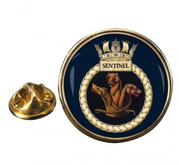 HMS Sentinel (Royal Navy) Round Pin Badge