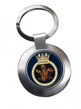 HMS Sentinel (Royal Navy) Chrome Key Ring