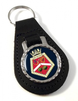 HMS Siskin (Royal Navy) Leather Key Fob