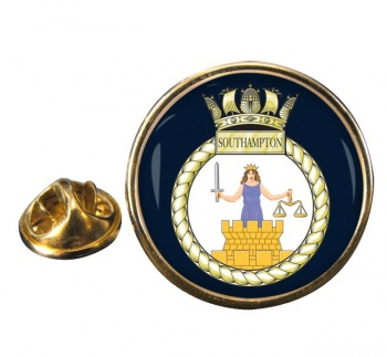 HMS Southampton (Royal Navy) Round Pin Badge