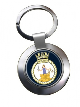HMS Southampton (Royal Navy) Chrome Key Ring