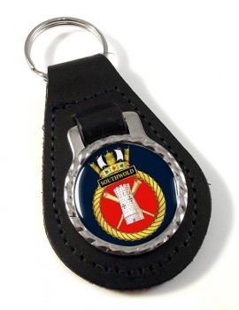 HMS Southwold (Royal Navy) Leather Key Fob
