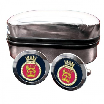 HMS Sovereign (Royal Navy) Round Cufflinks