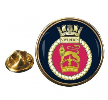 HMS Sovereign (Royal Navy) Round Pin Badge