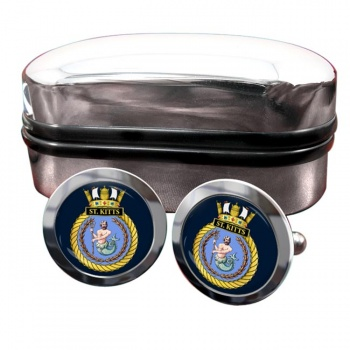HMS St. Kitts (Royal Navy) Round Cufflinks